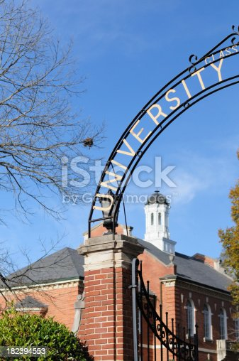 istock Arched university sign with copy space 182394553