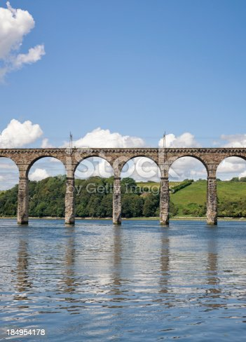 Part of the Royal Border Bridge, a viaduct crossing the River Tweed in the English town of Berwick upon Tweed.