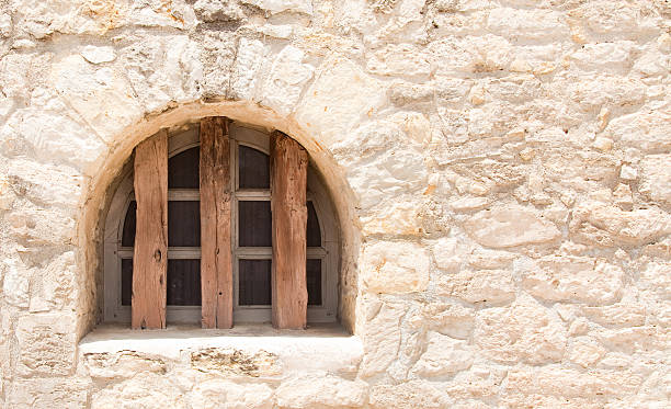 arched window - the alamo stock photos and pictures