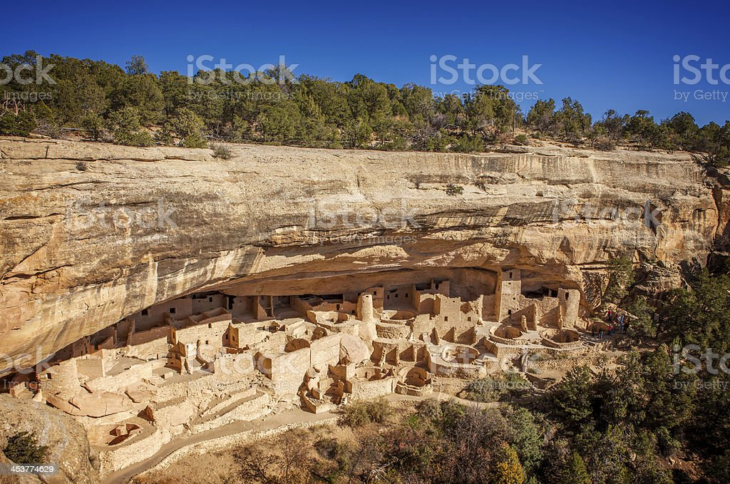 Archeological dwellings at Mesa Verde National Park stock photo