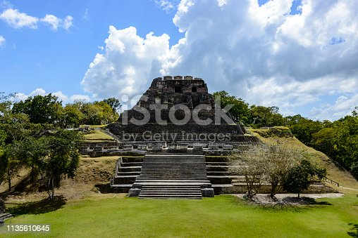 Archeological site of the Mayan ruins of Xunantunich (Stone Lady) in Belize, Central America