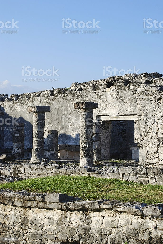 Archeological site of Tulum, Mexico. royalty free stockfoto