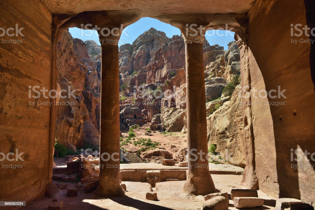 Archeological site Petra, Jordan stock photo