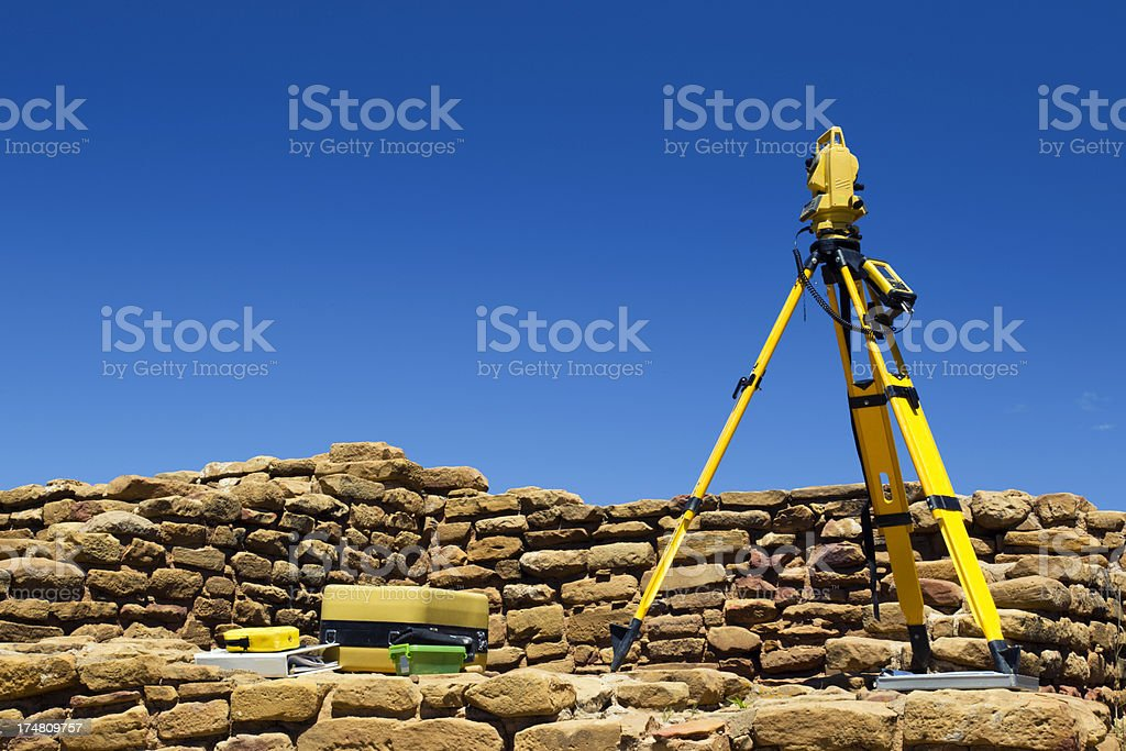 Archeological Survey at Mesa Verde National Park, Colorado royalty-free stock photo