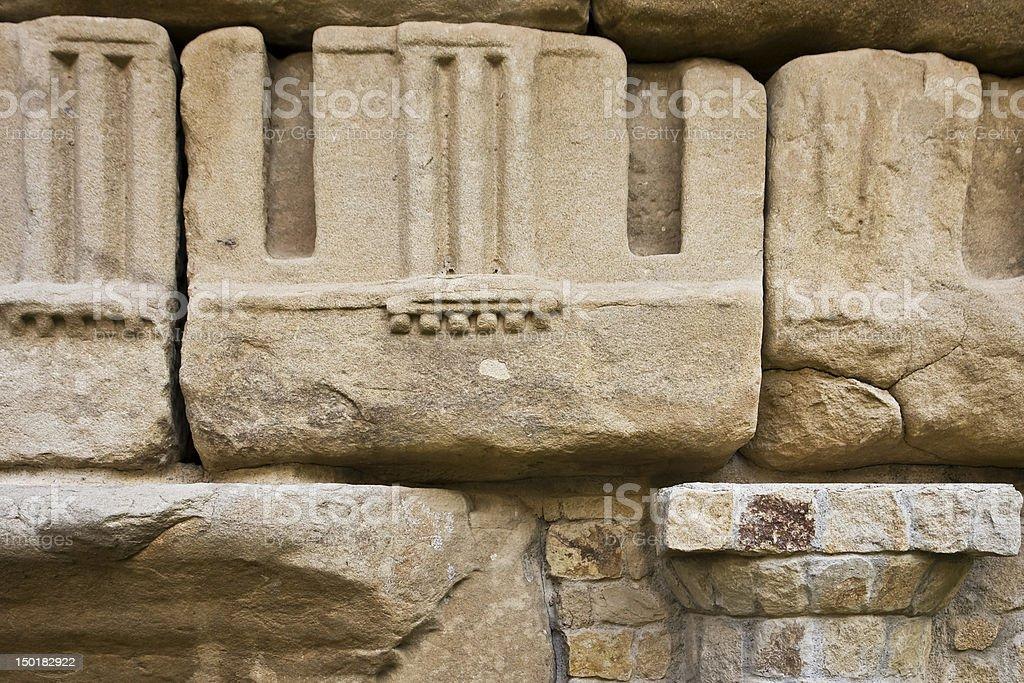 Archeological vestige royalty-free stock photo