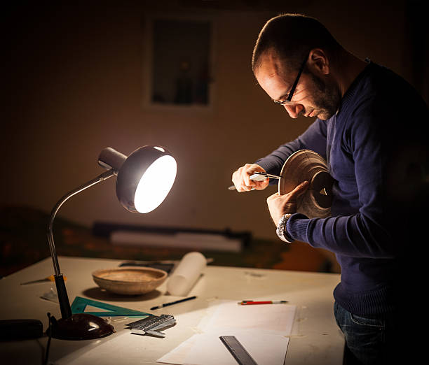 Archeologist at work stock photo