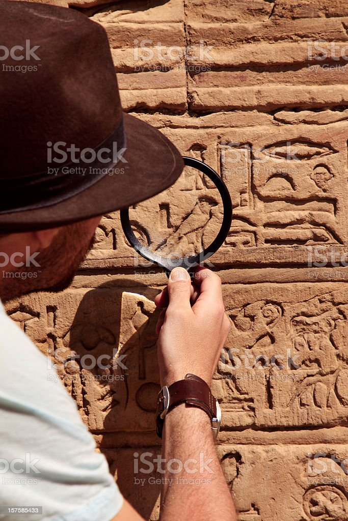 Archeologist stock photo