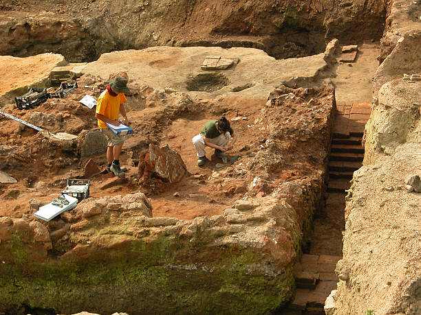 Archeologists at work II  archaeology stock pictures, royalty-free photos & images