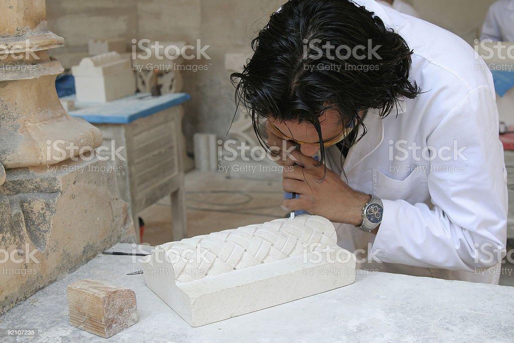 archeology student royalty-free stock photo