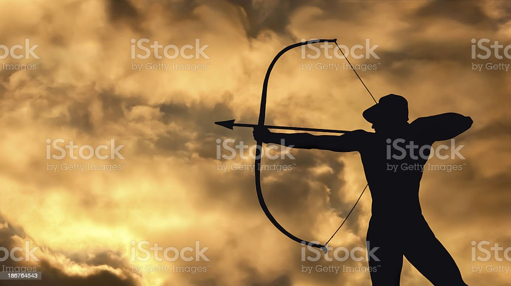 Archer Statue stock photo