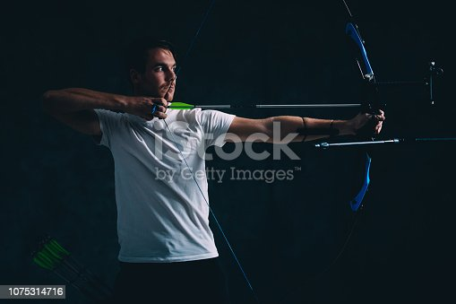 istock Archer with the bow and arrow 1075314716