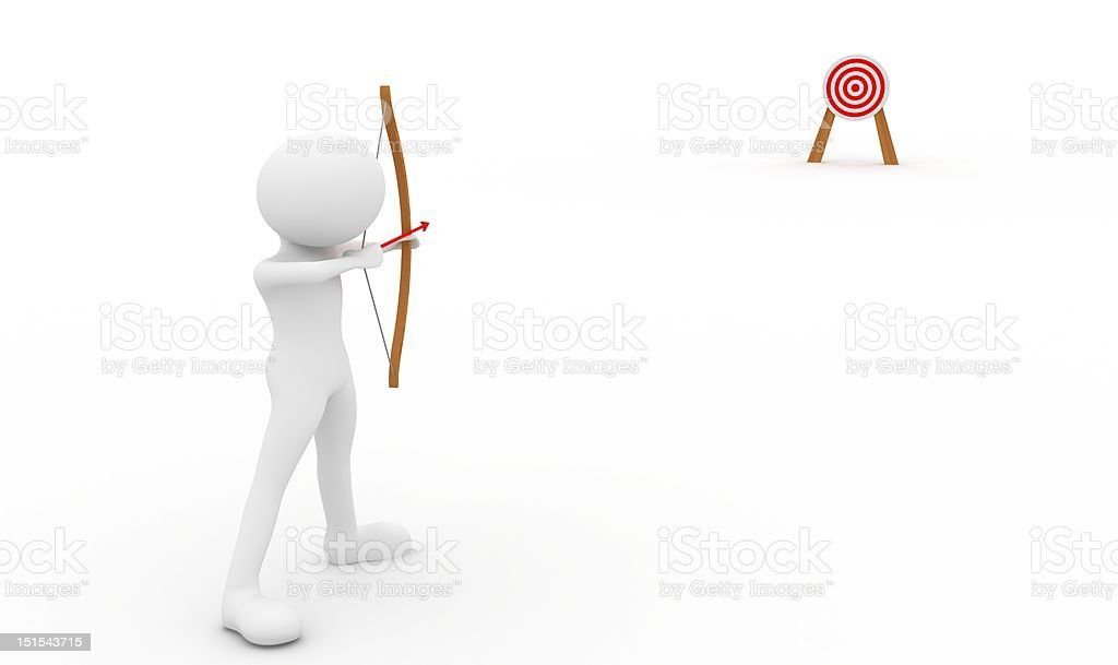Archery and target royalty-free stock photo