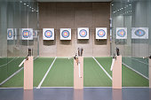 Archery arrows and sport aim for exercises