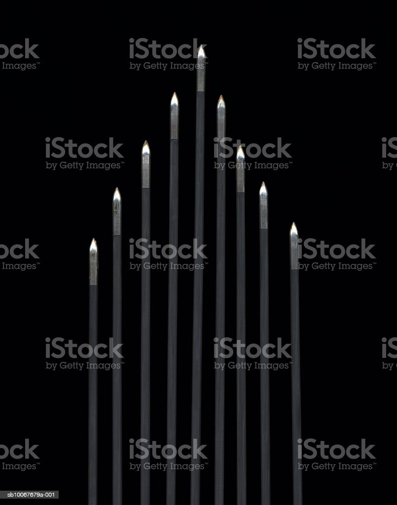 Archery arrows on black background royalty-free stock photo