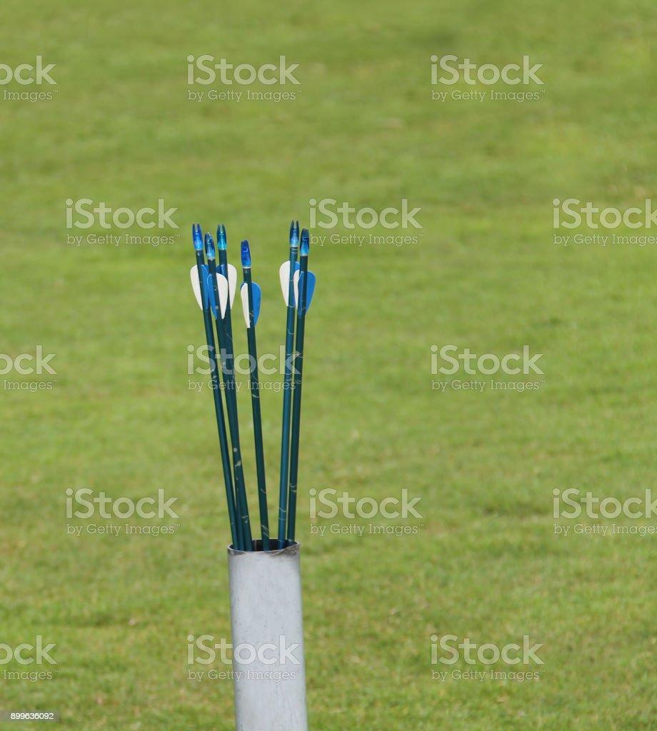 Archery Arrows. stock photo