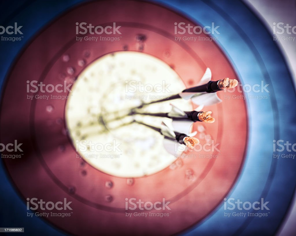 Archery, right on target stock photo