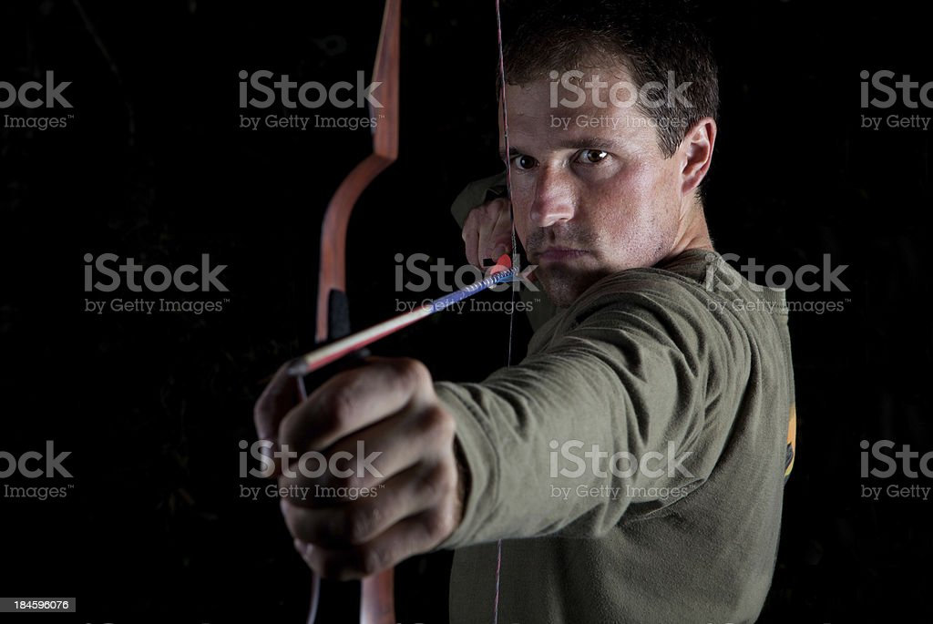 Archery Shooter royalty-free stock photo