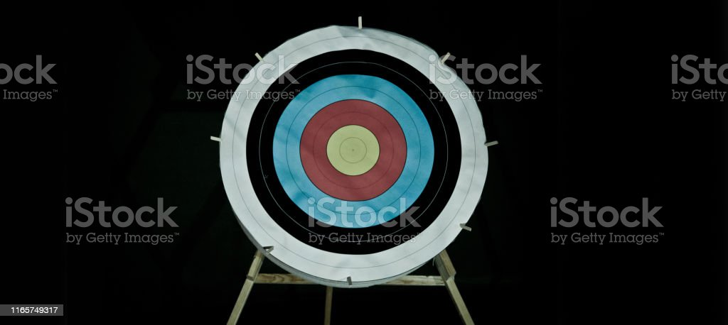 Archery shooting target on a stand