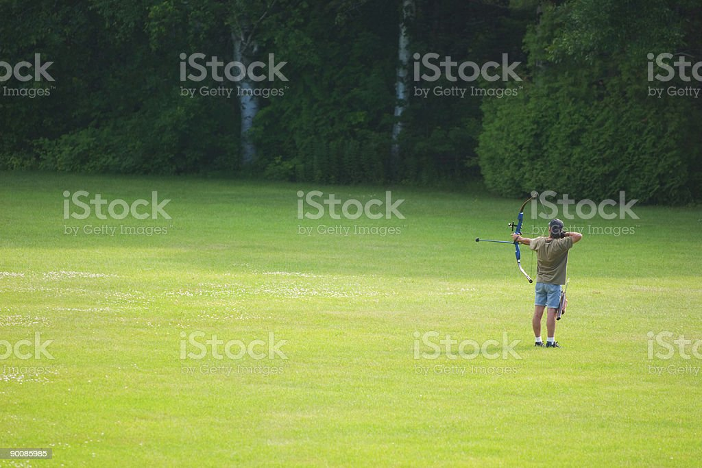archery sport in nature.. royalty-free stock photo