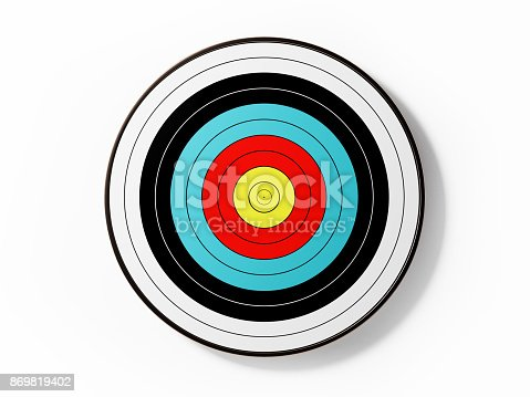 istock Archery Target Isolated On White Background 869819402