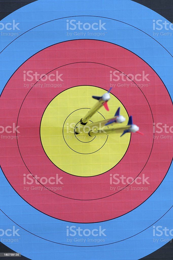 Archery target royalty-free stock photo