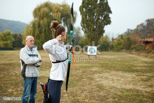 istock Archery Training 1058471572