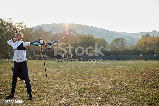 168589045 istock photo Archery Training 1067021696