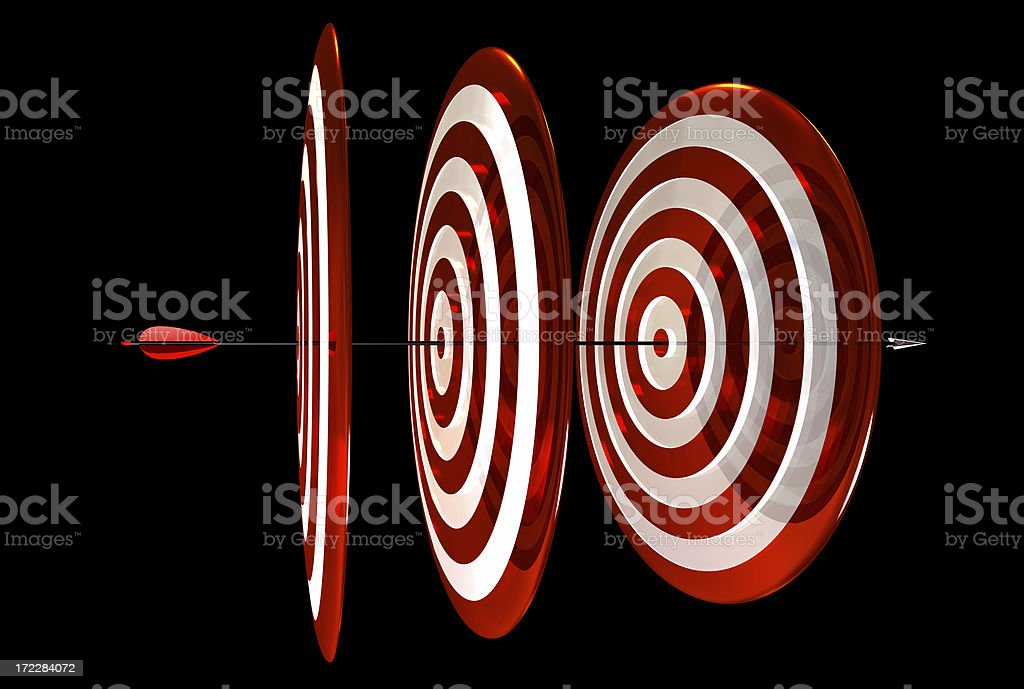 Archery Triple Center royalty-free stock photo