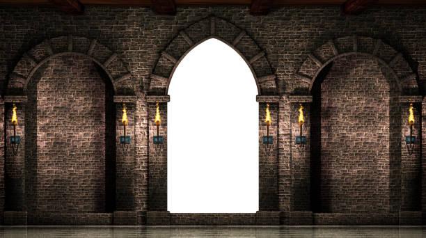arcos e portal isolado - castelo - fotografias e filmes do acervo