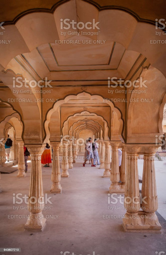 Arches at Amber Fort stock photo
