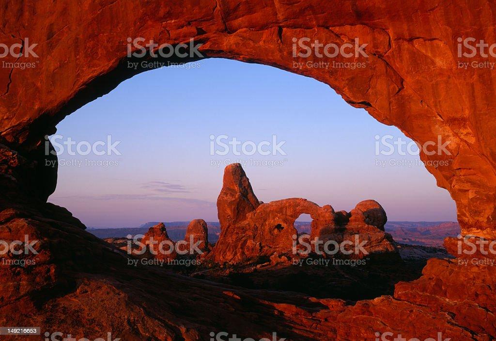 Arches at dawn Utah royalty-free stock photo