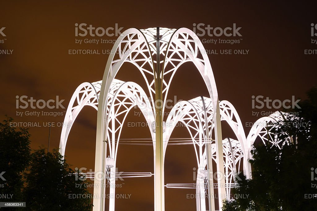 Arches at Pacific Science Center in Seattle, WA stock photo