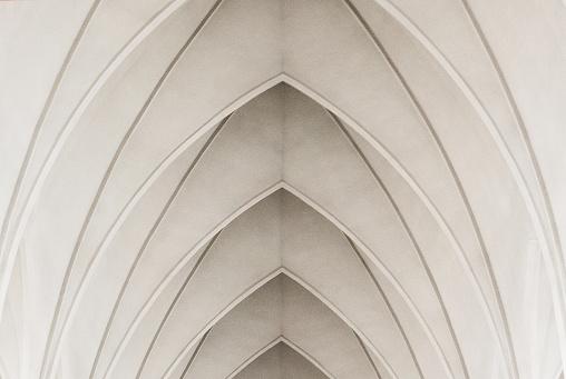 istock Arches in a modern church 1140395371