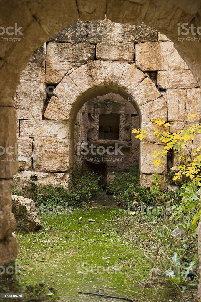 Arches in Abella royalty-free stock photo
