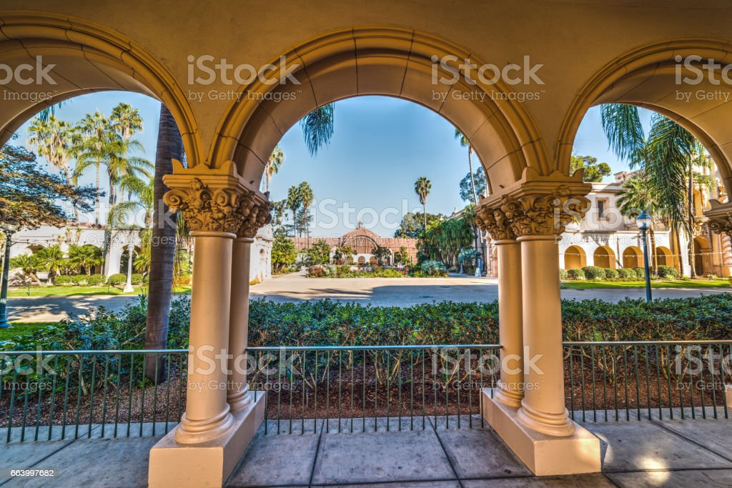 Arches in Balboa park stock photo