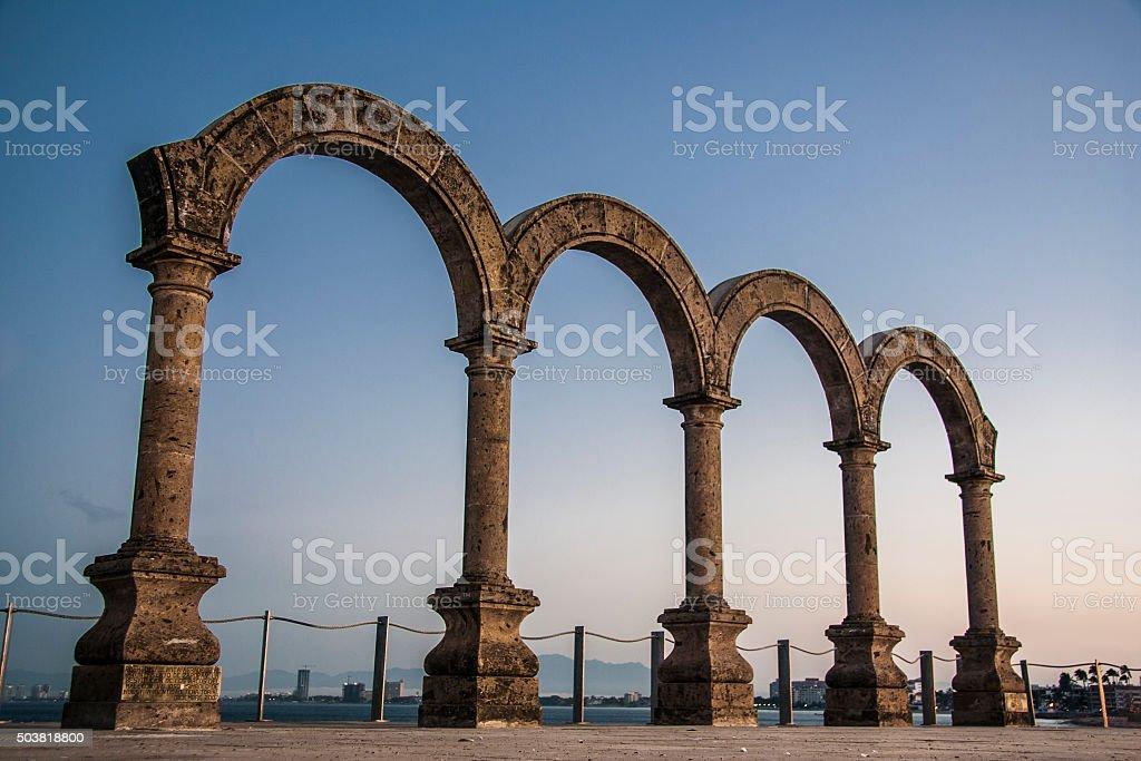 Arches in the Beach, Vallarta. stock photo