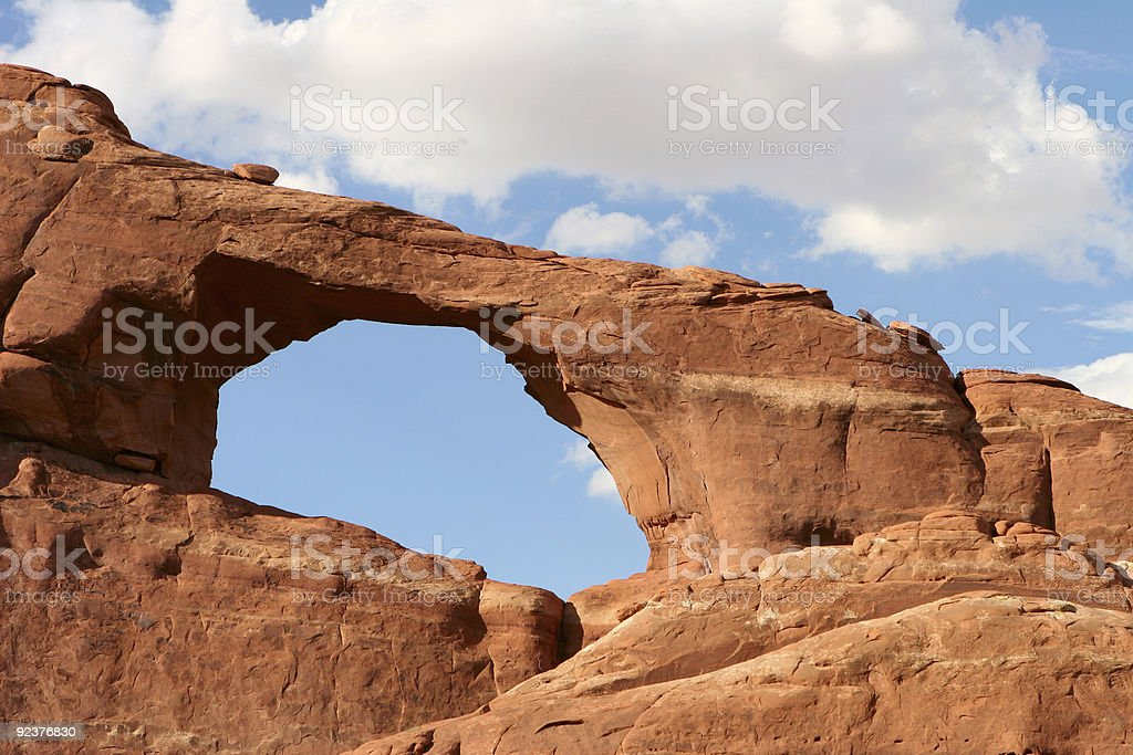 Arches in the Desert stock photo