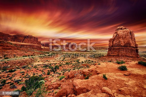 Arches National Park at Sunset