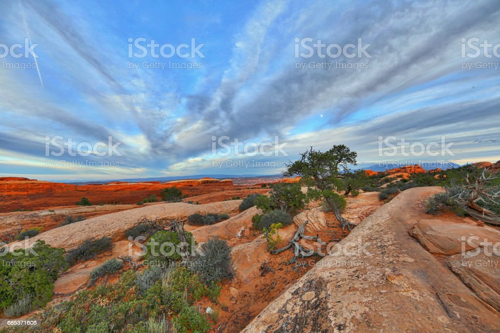 Arches National Park Double O Arch Hiking Trail stock photo