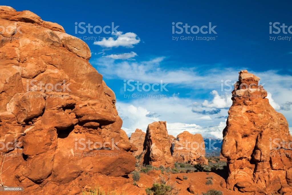 Arches National Park in Utah, USA zbiór zdjęć royalty-free