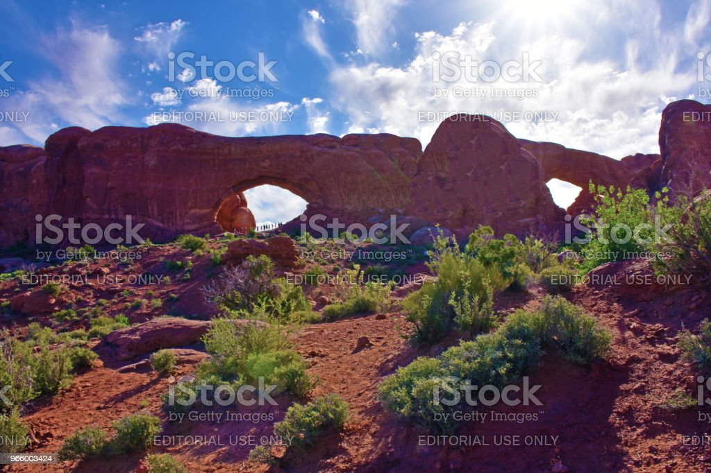 Arches National Park North Window and South Window - Royalty-free Arches National Park Stock Photo