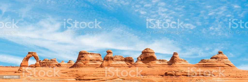 Arches National Park Panorama stock photo