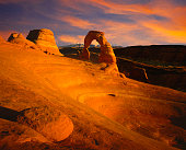 Moab, Utah, USA - September 5th, 2012: Tourists photographing at Arches National Park outside of Moab, Utah.
