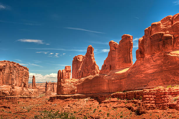 arches national park - arches national park stockfoto's en -beelden