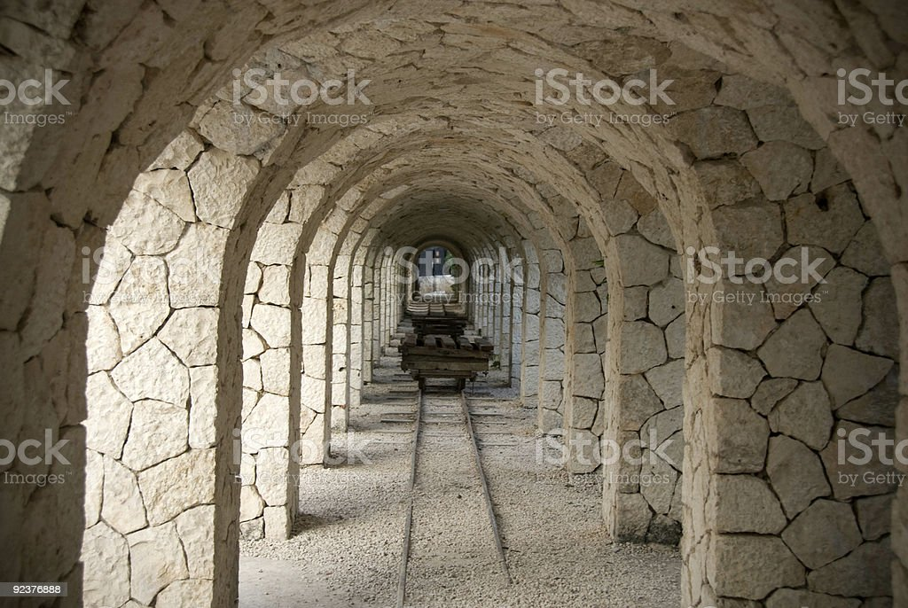 Arches of Excaret royalty-free stock photo