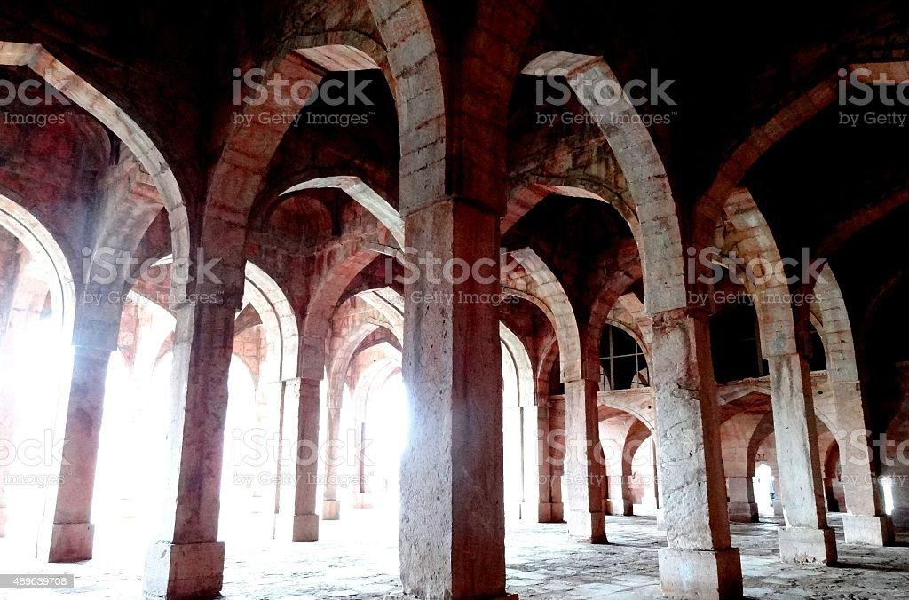 Arches of Jami Masjid - Epitome of Islamic Architecture stock photo