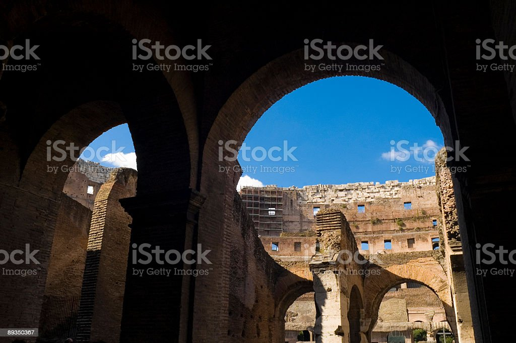 Arches of the Colosseum, Rome royalty-free stock photo