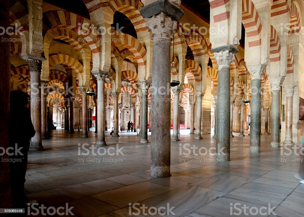 Arches of the Mezquita, Cordoba, Spain stock photo