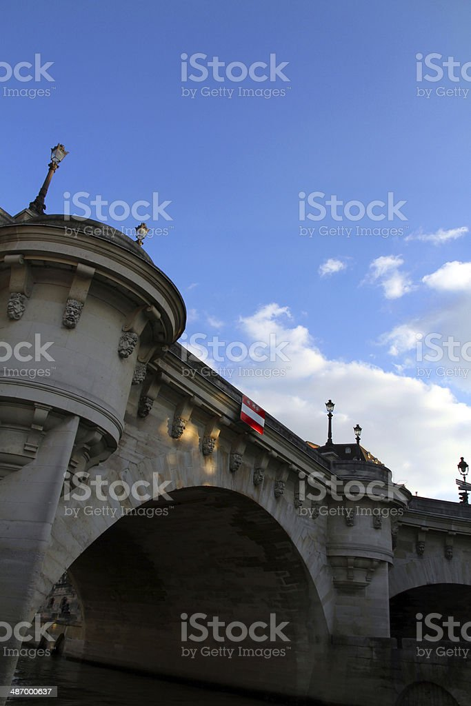 Arches Over the Seine royalty-free stock photo