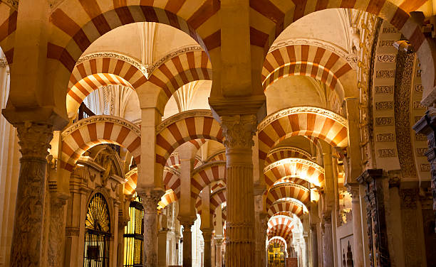 Arches Mosque-Cathedral Cordoba, Spain palacios nazaries stock pictures, royalty-free photos & images